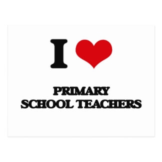 Amo a profesores de escuela primarios postal