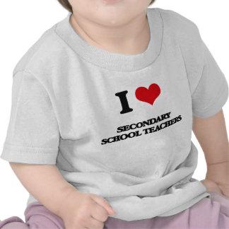 Amo a profesores de escuela secundarios camiseta
