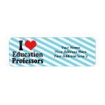 Amo a profesores de la educación etiqueta de remite