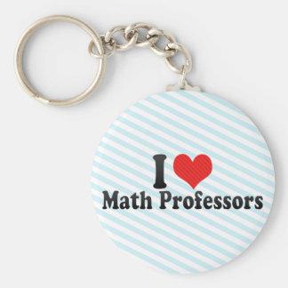 Amo a profesores de matemáticas llavero