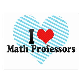 Amo a profesores de matemáticas postales