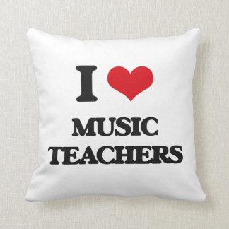 Amo a profesores de música cojin