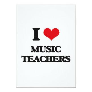Amo a profesores de música invitación 12,7 x 17,8 cm