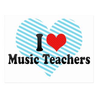 Amo a profesores de música tarjeta postal