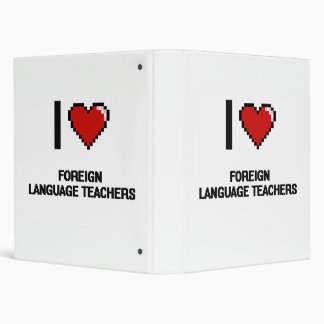 "Amo a profesores del idioma extranjero carpeta 1"""