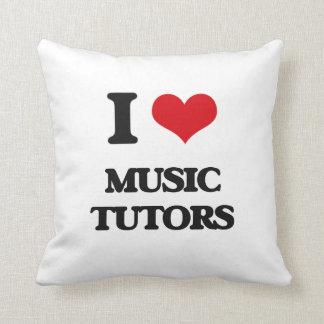 Amo a profesores particulares de la música almohadas