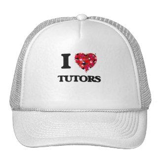 Amo a profesores particulares gorras de camionero