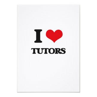 Amo a profesores particulares invitación 12,7 x 17,8 cm