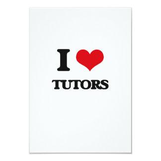 Amo a profesores particulares invitación 8,9 x 12,7 cm