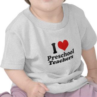 Amo a profesores preescolares camiseta