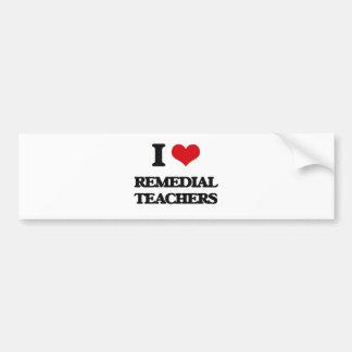 Amo a profesores remediadores pegatina de parachoque