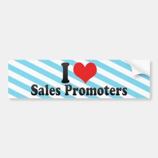 Amo a promotores de las ventas etiqueta de parachoque
