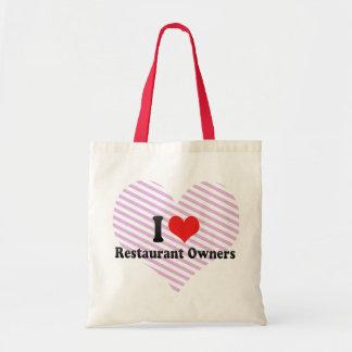 Amo a propietarios de restaurante bolsa de mano