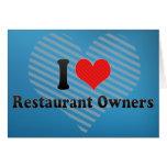 Amo a propietarios de restaurante felicitacion