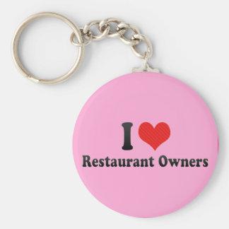 Amo a propietarios de restaurante llavero personalizado