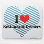 Amo a propietarios de restaurante alfombrillas de raton