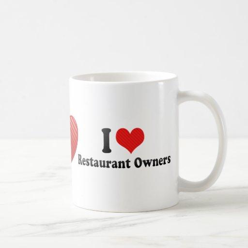Amo a propietarios de restaurante tazas