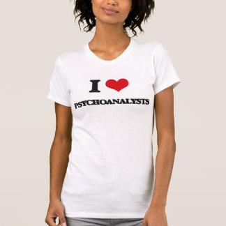Amo a psicoanalistas camisetas