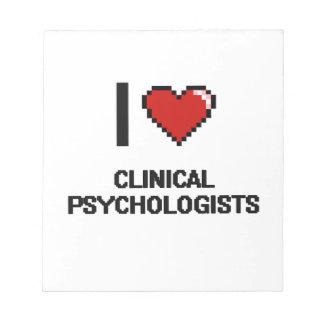 Amo a psicólogos clínicos libretas para notas