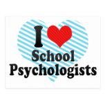 Amo a psicólogos de la escuela tarjetas postales