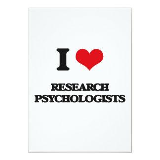 """Amo a psicólogos de la investigación invitación 5"""" x 7"""""""