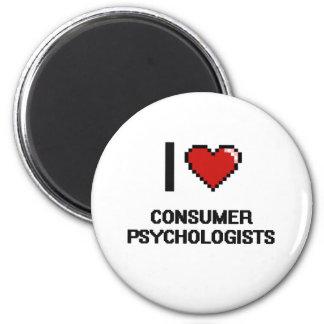 Amo a psicólogos del consumidor imán redondo 5 cm