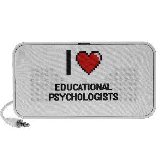 Amo a psicólogos educativos mini altavoz