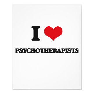 Amo a psicoterapeutas flyer personalizado