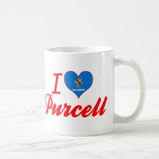 Amo a Purcell, Oklahoma Taza Básica Blanca