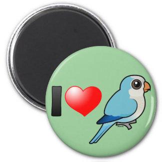 Amo a Quakers azules Imán Redondo 5 Cm