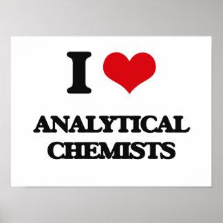 Amo a químicos analíticos posters