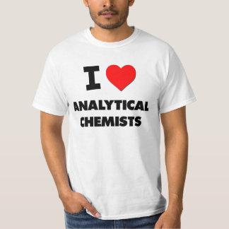 Amo a químicos analíticos playera