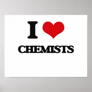 Amo a químicos impresiones