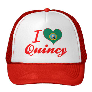 Amo a Quincy, Washington Gorro
