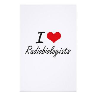 Amo a radiobiólogos personalized stationery