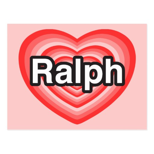 Amo a Rafael. Te amo Rafael. Corazón Tarjeta Postal