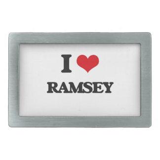 Amo a Ramsey Hebillas Cinturon Rectangulares