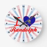 Amo a Randolph, Kansas Relojes De Pared