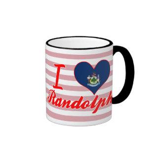 Amo a Randolph, Maine Taza A Dos Colores
