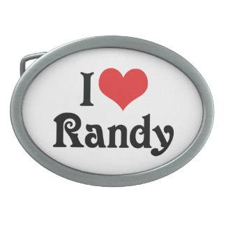 Amo a Randy Hebillas De Cinturón Ovales