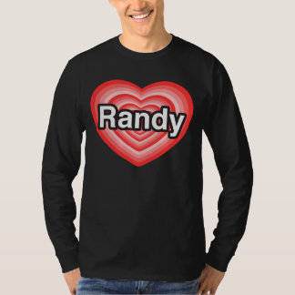 Amo a Randy. Te amo Randy. Corazón Playera