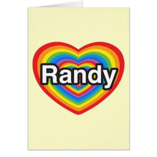 Amo a Randy. Te amo Randy. Corazón Tarjeta De Felicitación
