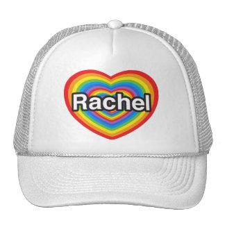 Amo a Raquel. Te amo Raquel. Corazón Gorros Bordados