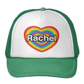 Amo a Raquel. Te amo Raquel. Corazón Gorros