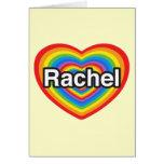 Amo a Raquel. Te amo Raquel. Corazón Tarjeta