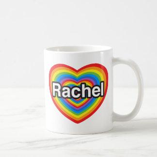 Amo a Raquel. Te amo Raquel. Corazón Tazas De Café
