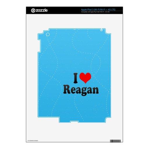 Amo a Reagan iPad 3 Pegatinas Skins