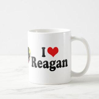 Amo a Reagan Tazas De Café