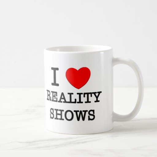 Amo a realitys show taza básica blanca