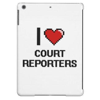 Amo a reporteros de corte funda para iPad air